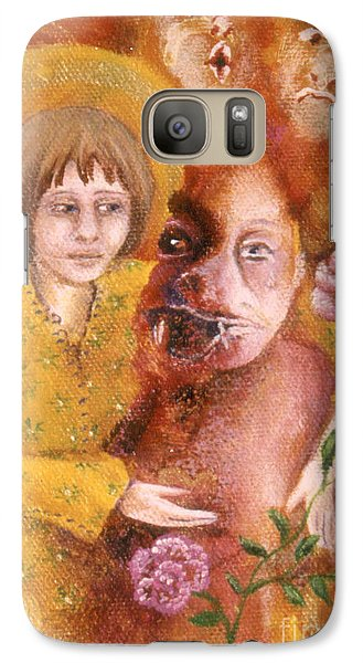 Galaxy Case featuring the painting Small Works Of Kindness 1 by Anna Skaradzinska