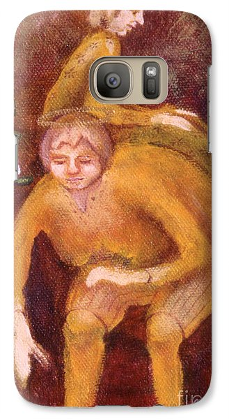Galaxy Case featuring the painting Small Works Of Kindness 2 by Anna Skaradzinska