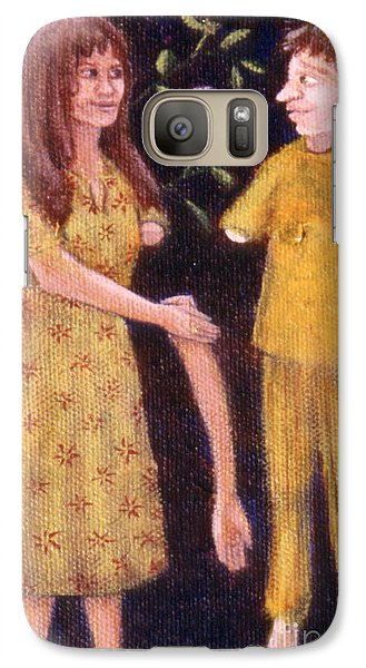 Galaxy Case featuring the painting Small Works Of Kindness 3 by Anna Skaradzinska