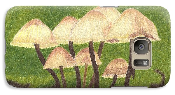 Galaxy Case featuring the drawing Small World by Sheila Byers