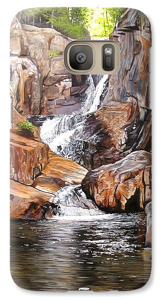 Galaxy Case featuring the painting Smalls Falls Maine by Kevin F Heuman