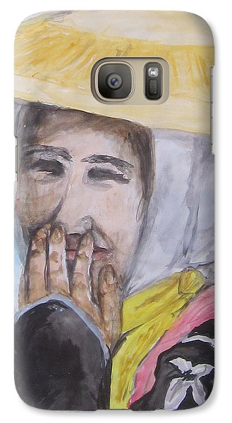 Galaxy Case featuring the painting Smile by Cheryl Pettigrew
