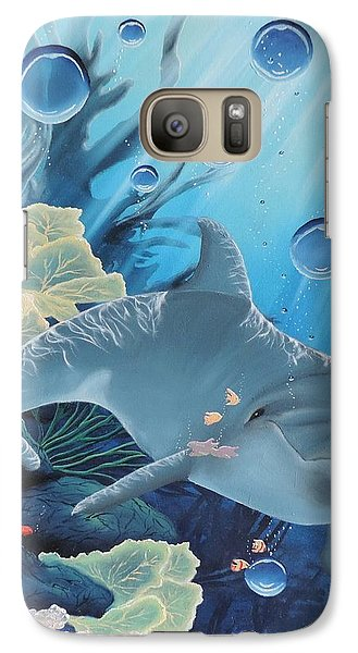 Galaxy Case featuring the painting Smiley by Dianna Lewis