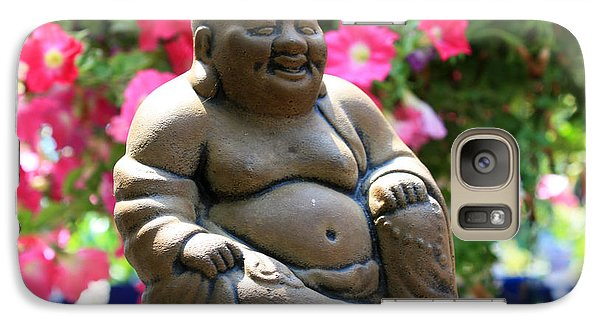 Galaxy Case featuring the photograph Smiling Buddha by Gerry Bates