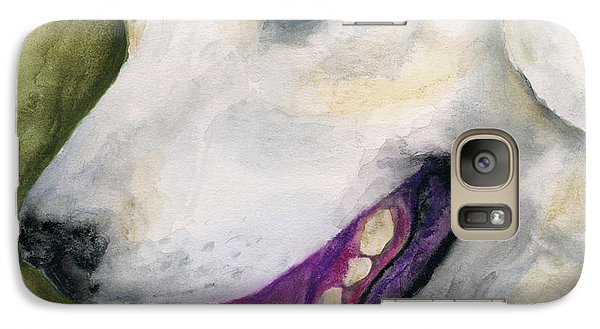 Galaxy Case featuring the painting Smiling Lab by Stephen Anderson