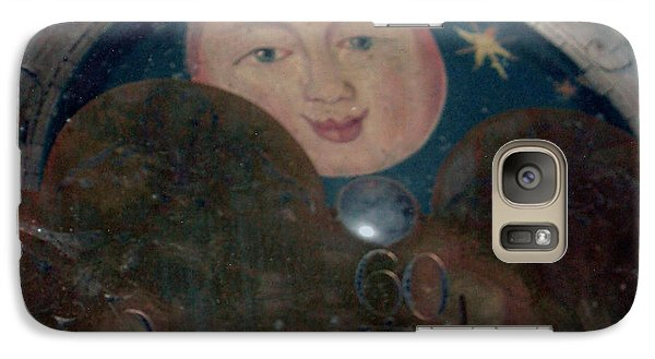 Galaxy Case featuring the photograph Smiling Moon by Lyric Lucas