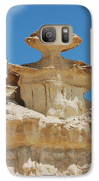 Galaxy Case featuring the photograph Smiling Stone Man by Linda Prewer