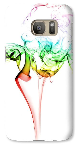 Colours Galaxy S7 Case - Smoke And Colours by Samuel Whitton