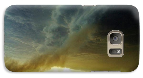Galaxy Case featuring the photograph Smoke And The Supercell by Ed Sweeney