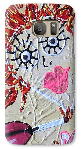 Galaxy Case featuring the painting Smoke Me Now by Lisa Piper
