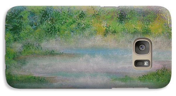 Galaxy Case featuring the painting Smoke On The Water by Denise Tomasura