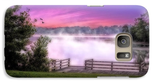 Galaxy Case featuring the photograph Smoke On The Water by Mary Timman