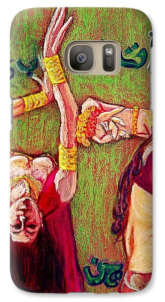 Galaxy Case featuring the painting Smokeless Fire by D Renee Wilson