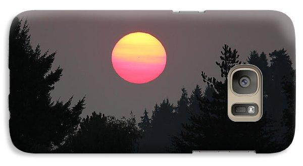 Galaxy Case featuring the photograph Smokey Sunrise by E Faithe Lester