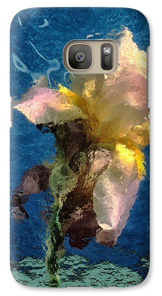 Galaxy Case featuring the photograph Smoking Iris by Gary Slawsky