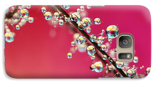 Galaxy Case featuring the photograph Smoking Pink Drops II by Sharon Johnstone