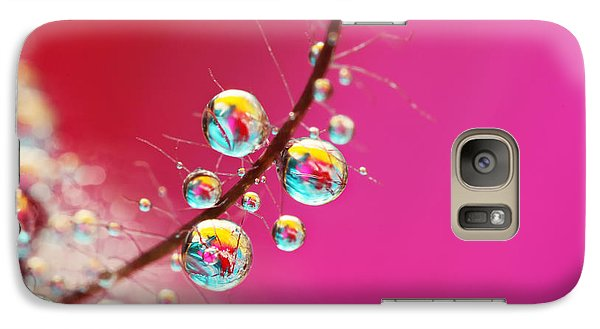 Galaxy Case featuring the photograph Smoking Pink Drops by Sharon Johnstone