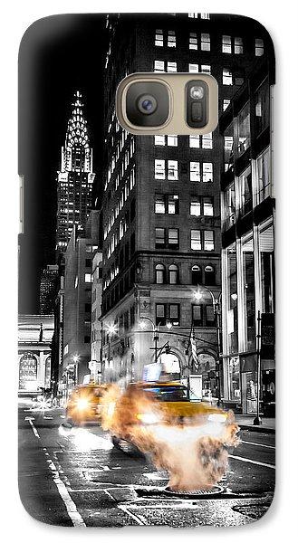 London Tube Galaxy S7 Case - Smoking Streets Of New York  by Az Jackson