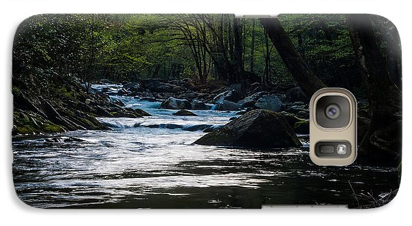 Galaxy Case featuring the photograph Smoky Mountain Stream by Jay Stockhaus
