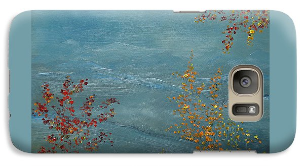 Galaxy Case featuring the painting Smoky Mountains In Autumn by Judith Rhue