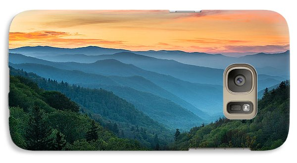 Landscape Galaxy S7 Case - Smoky Mountains Sunrise - Great Smoky Mountains National Park by Dave Allen