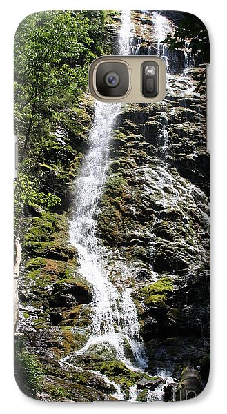 Galaxy Case featuring the photograph Smoky Mountains Waterfall by Jerry Bunger