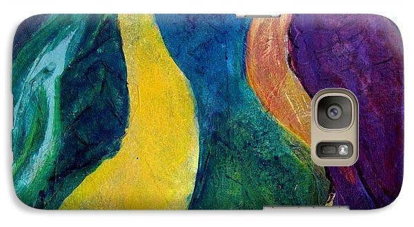 Galaxy Case featuring the painting Smug Bird Gossip by Betty Pieper