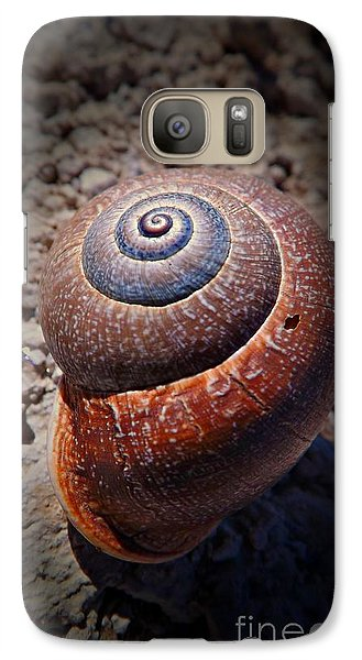 Galaxy Case featuring the photograph Snail Beauty by Clare Bevan