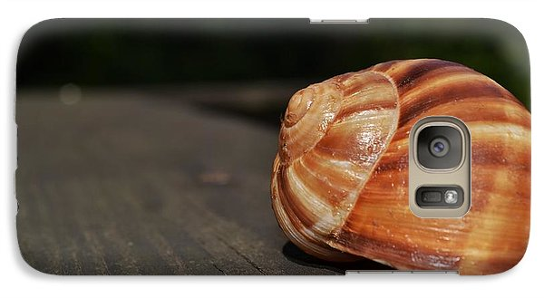 Galaxy Case featuring the photograph Snail Shell II by Mary Zeman
