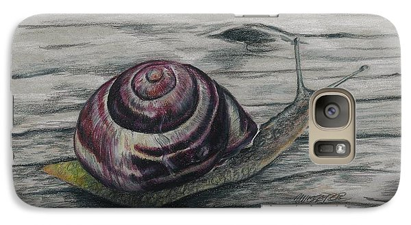 Galaxy Case featuring the drawing Snail Study by Meagan  Visser