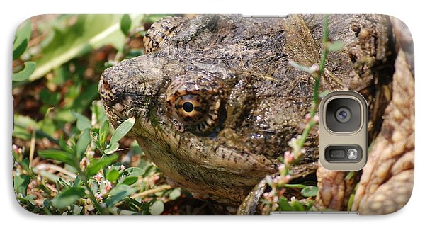 Galaxy Case featuring the photograph Snapping Turtle Head by Mark McReynolds