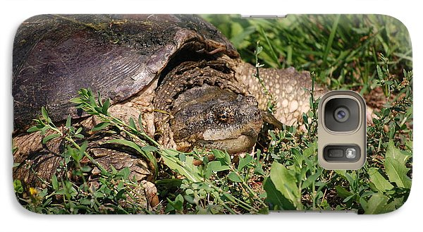 Galaxy Case featuring the photograph Snapping Turtle by Mark McReynolds