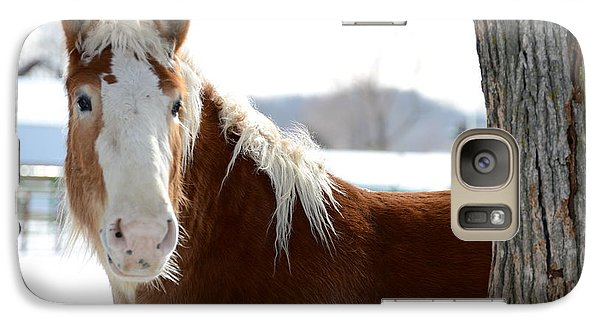Galaxy Case featuring the photograph Sneak Peek by Linda Mishler