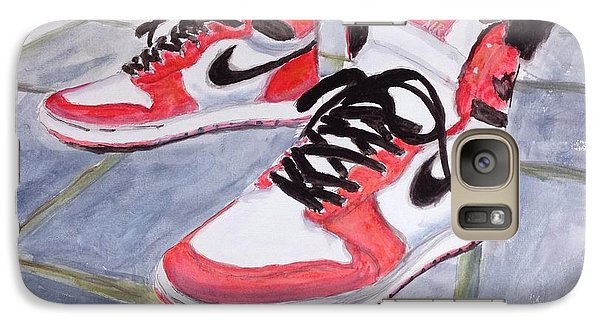 Galaxy Case featuring the painting Sneakers by Stan Tenney