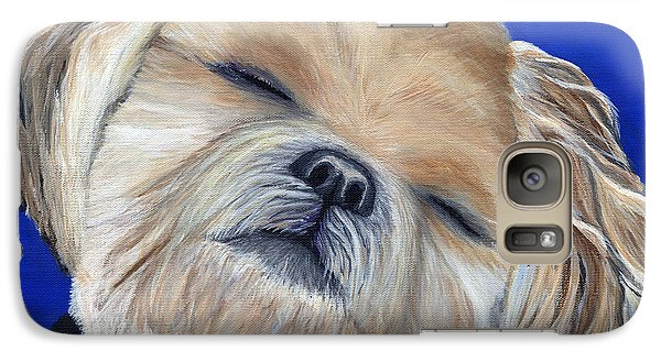 Galaxy Case featuring the painting Snickers by Michelle Joseph-Long