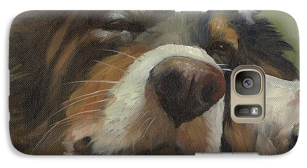 Galaxy Case featuring the painting Snoozing by Alecia Underhill