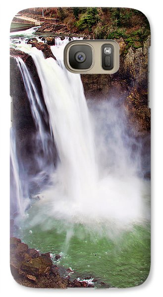Galaxy Case featuring the photograph Snoqualmie Falls by Jerry Cahill