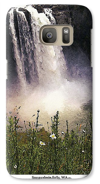 Galaxy Case featuring the photograph Snoqualmie Falls Wa. by Kenneth De Tore