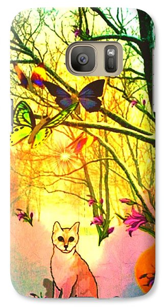 Galaxy Case featuring the digital art Snow And Butterfly Dreams by Mary Anne Ritchie
