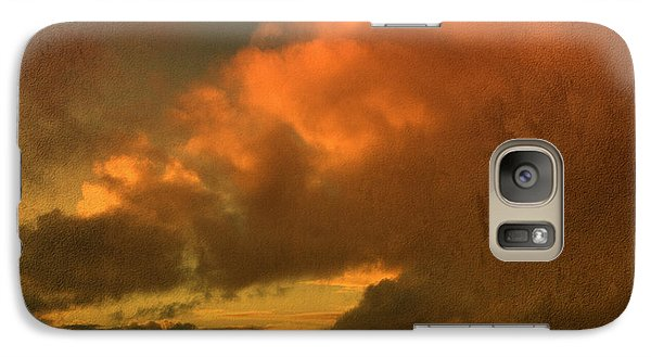 Galaxy Case featuring the photograph Snow And Fire by Liz  Alderdice