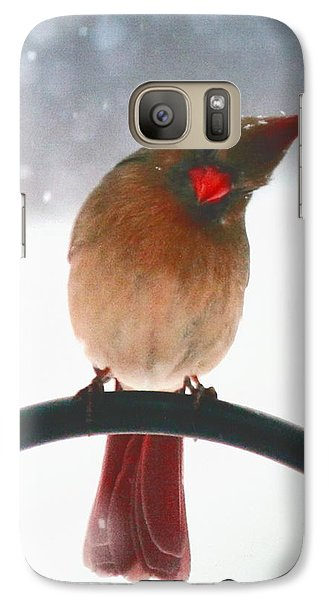 Galaxy Case featuring the photograph Snow Bird by Diane Merkle