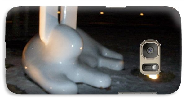 Galaxy Case featuring the photograph Snow Bunny by Kelly Awad