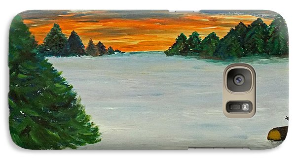 Galaxy Case featuring the painting Snow Covered Clearing In The Forest by Martin Blakeley