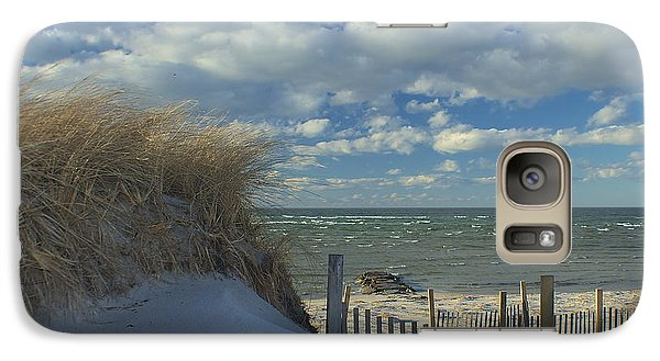 Galaxy Case featuring the photograph Snow Covered Dunes by Amazing Jules
