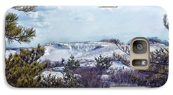 Galaxy Case featuring the photograph Snow Covered Dunes Photo Art by Constantine Gregory