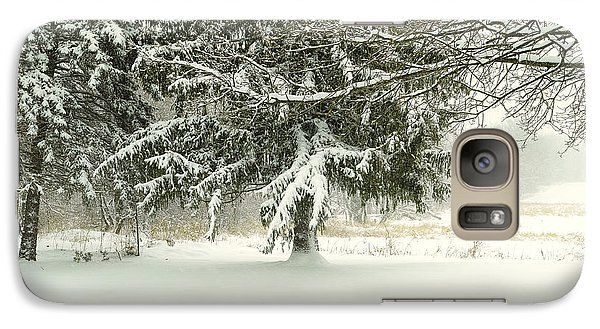 Galaxy Case featuring the photograph Snow-covered Trees by Lars Lentz