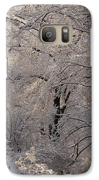 Galaxy Case featuring the photograph Snow Covered Trees On Central Park West by Winifred Butler