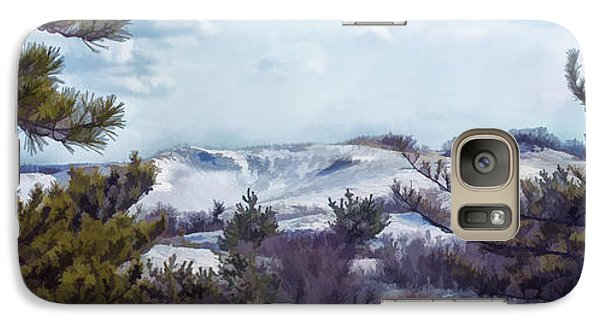 Galaxy Case featuring the photograph Snow Covered Dunes by Constantine Gregory