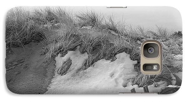 Galaxy Case featuring the photograph Snow Covered Sand Dunes by Eunice Miller