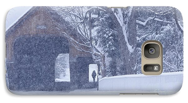 Galaxy Case featuring the photograph Snow Day by Alan L Graham